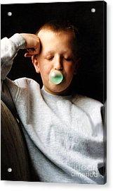One More Bubble Acrylic Print by Susan Stevenson