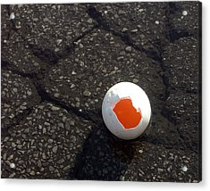 Open Broken Egg - View From Above Acrylic Print by Matthias Hauser