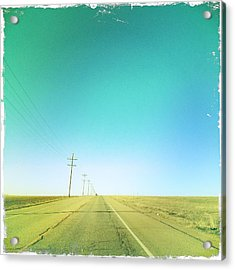 Open Road Acrylic Print by A L Christensen