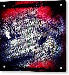 Opinion Of Stain Acrylic Print by Jerry Cordeiro
