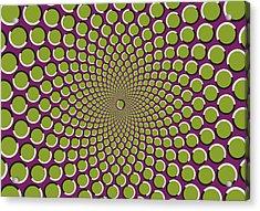 optical illusion Purple well Acrylic Print by Sumit Mehndiratta