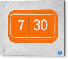 Orange Alarm Acrylic Print by Naxart Studio