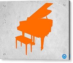Orange Piano Acrylic Print by Naxart Studio