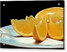 Orange Slices Acrylic Print by Andee Design