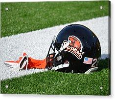 Oregon State Helmet Acrylic Print by Replay Photos