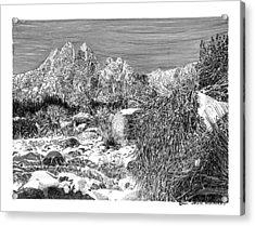 Organ Mountain Wintertime Acrylic Print by Jack Pumphrey