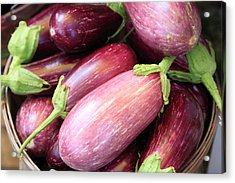 Organic Eggplant Acrylic Print by Wendy Connett