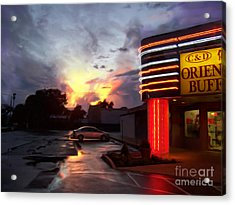Oriental Buffet Acrylic Print by Jeff Breiman