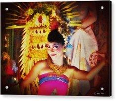 Oriental Dancing Girl  Acrylic Print by Yvon van der Wijk