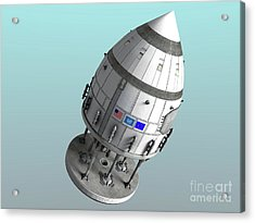 Orion-drive Spacecraft In Standard Acrylic Print by Rhys Taylor