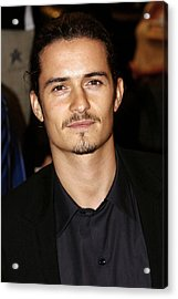 Orlando Bloom At Arrivals Acrylic Print by Everett