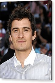 Orlando Bloom At Arrivals For Premiere Acrylic Print by Everett