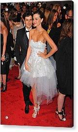 Orlando Bloom, Miranda Kerr Wearing Acrylic Print by Everett