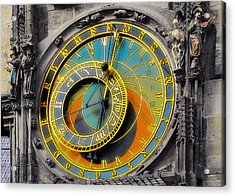 Orloj - Astronomical Clock - Prague Acrylic Print by Christine Till