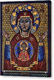 Orthodox Icon Of The Mosaic Acrylic Print by Gennadiy Golovskoy