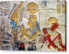 Osiris And Isis, Abydos Acrylic Print by Joe & Clair Carnegie / Libyan Soup