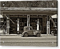 Out Of The Past Sepia Acrylic Print by Steve Harrington