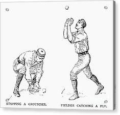 Outfielder, 1889 Acrylic Print by Granger