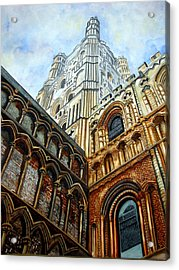 Outside Ely Cathedral Acrylic Print by Emmanuel Turner
