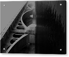 Over The Bridge Acrylic Print by JC Photography and Art