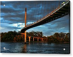 Over The Muddy Mo Acrylic Print by Jeff Swanson