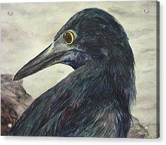 Over-the-shoulder Glance Acrylic Print by Estephy Sabin Figueroa