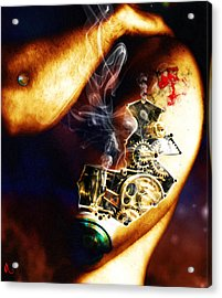 Over Worked Acrylic Print by Adam Vance