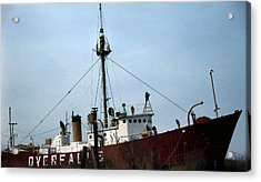 Overfalls Lightship Acrylic Print by Skip Willits