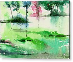 Overflow 1 Acrylic Print by Anil Nene