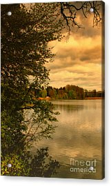Overlooking The Lake Acrylic Print by Jutta Maria Pusl