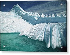 Overturned Iceberg With Eroded Edges Acrylic Print by Colin Monteath