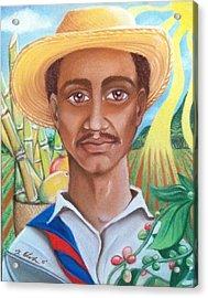 Padre Tierra Acrylic Print by Xiomara Aleksic