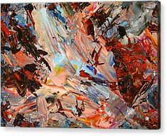Paint Number 36 Acrylic Print by James W Johnson
