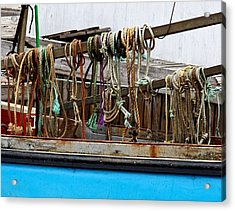 Painted Rope Coils Acrylic Print by Brenda Giasson