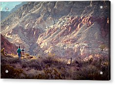 Painting Red Rock Acrylic Print by Cody Boor