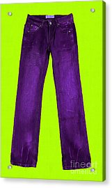 Pair Of Jeans 5 - Painterly Acrylic Print by Wingsdomain Art and Photography