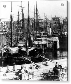 Palermo Sicily - Shipping Scene At The Harbor Acrylic Print by International  Images