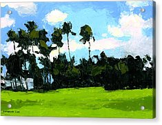 Palms At Kapiolani Park Acrylic Print by Douglas Simonson