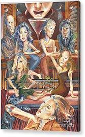 Paparazzi Paradise Acrylic Print by Lisa Hershman