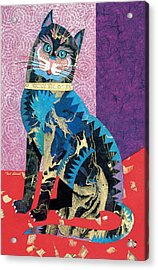 Paper Cat Acrylic Print by Bob Coonts