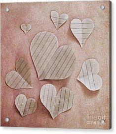 Papier D'amour Acrylic Print by Priska Wettstein