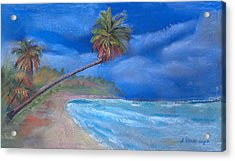 Paradise In Puerto Rico Acrylic Print by Arline Wagner