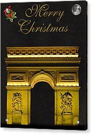 Paris Christmas Fashion  Acrylic Print by Eric Kempson