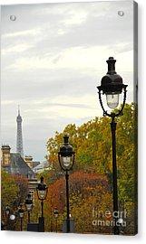 Paris Street Acrylic Print by Elena Elisseeva