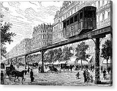 Paris: Tramway, 1880s Acrylic Print by Granger