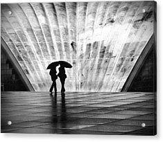 Paris Umbrella Acrylic Print by Nina Papiorek