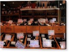 Paris Wine Shop Acrylic Print by Andrew Fare