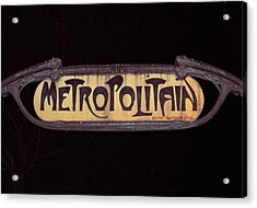 Parisienne Metro Sign Acrylic Print by Rod Jones