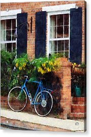 Parked Bicycle Acrylic Print by Susan Savad