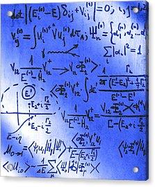 Particle Physics Equations Acrylic Print by Ria Novosti